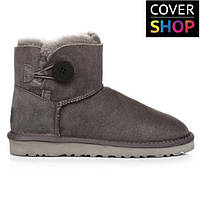 0a88d4975 Женские угги UGG AUSTRALIA - mini bailey button grey, 100% овчина