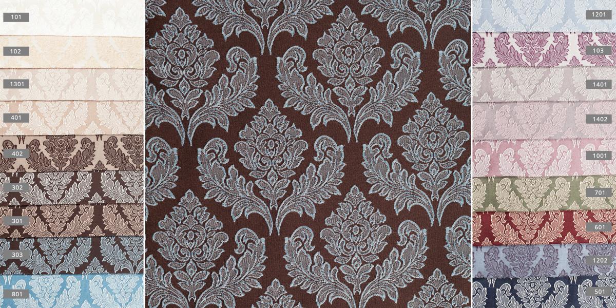Портьерная ткань короны 3979