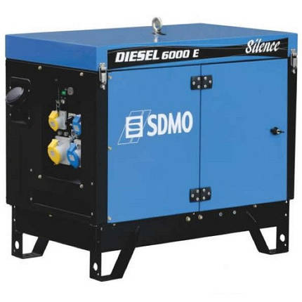 Генератор дизельний SDMO Diesel 6000 E Silence (5,2 кВт), фото 2