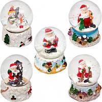 Шар метель «Дед Мороз, Снеговик» 45