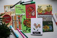 10 открыток 1 набор штампов