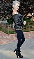 Женская черная блузка с открытыми плечами