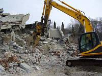 Промышленный демонтаж, снос зданий и сооружений, разрушение, демонтаж бетона, земляные работы