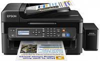 Багатофункційний пристрій А4 Epson L566 Фабрика друку з WI-FI (C11CE53403)