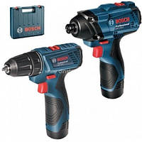 Комплект Bosch GDR 120-LI + GSR 120-LI Professional + 2х1.5 Ач
