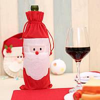 Новогоднее украшение на бутылку