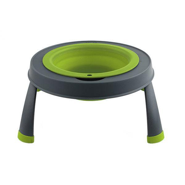 Dexas Single Elevated Pet Bowl 960 мл - миска на складной подставке для собак и кошек (зеленый)