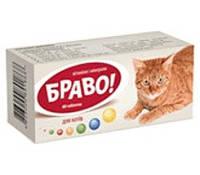 БРАВО витамины и минералы для котов 60 таб