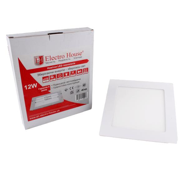 Светильник светодиодный встраиваемый ElectroHouse 12W 4100К 1080Lm 170х170мм (EH-LMP-3400)