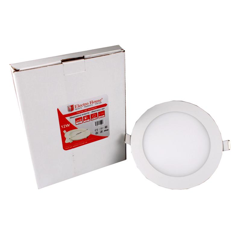 Светильник светодиодный встраиваемый ElectroHouse 12W 4100К 1080Lm Ø 170мм (EH-LMP-1272)