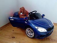 Детский электромобиль BMW КХ1337-2 Премиум, резина, кожа, ключ зажигания, синий, дитячий електромобіль