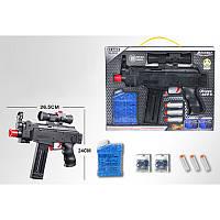 Автомат AK46 27 см, водяные пули, мягкие пули-присоски 3 шт