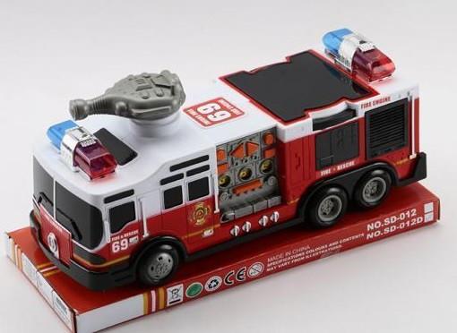 Пожежна машина зі світловими і звуковими ефектами (інерційний)