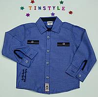 Стильная рубашка  для мальчика рост 80-86 см