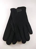 Перчатка мужская хлопок декорированный на плюше