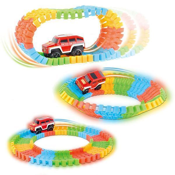 Детская игрушечная дорога Magic Tracks, 220 деталей Детская автодорога Magic Tracks