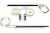 Ремкомплект стеклоподъемника в сборе (тросики, скрепки и ролик) Fiat Doblo 2000-2004
