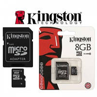 MicroSDHC 8Gb Kingston (10class) with adapter