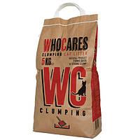 WhoCares WC Clumping 10кг - комкующийся наполнитель для кошачьего туалета