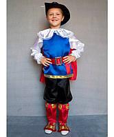 Детский карнавальный костюм для мальчика «Кот в сапогах» (3-6 лет)