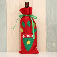 Новорічна прикраса для пляшки