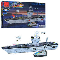 Конструктор BRICK 208886/113, военный корабль, фигурки 2 шт., 990 деталей, в коробке, 60-33, 5-8 см