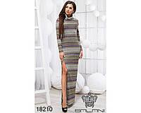 Принтованое платье в пол - 18210(б-ни)