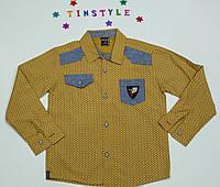 Стильная рубашка  для мальчика рост 110-134 см