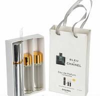 Мини парфюм с феромонами Chanel Bleu de Chanel (Шанель Блю де Шанель) в подарочной упаковке 3x15 ml - 09m