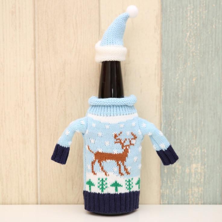 Новогоднее украшение свитер для бутылки