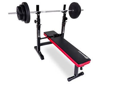 Набір Hop-Sport Premium 40 кг з лавою HS-1080, фото 2
