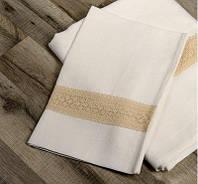 Постельное белье Евро из беленого льна