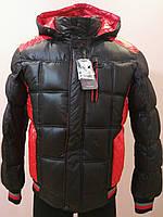 Куртка зимняя мужская черно-красная
