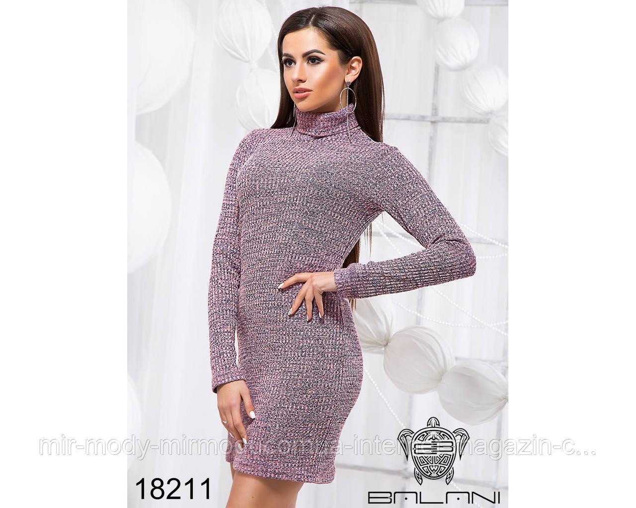Облегающее платье под горло - 18211(б-ни)