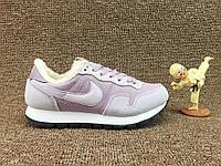 Зимние женские кроссовки Nike Internationalist Purple (Найк) с мехом сиреневые