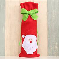 Новогоднее украшение мешочек для бутылки