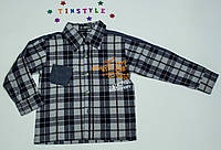 Стильная рубашка  в клетку  для мальчика рост  128-134 см