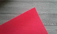 Фетр 1мм, 20*25см, середня жорсткість - яскравий розовий колір