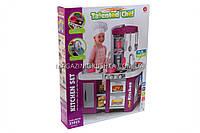 Детская игрушечная кухня с посудой (свет, звук, вода) 53 элемента арт. 922-47, фото 1