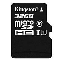 MicroSDHC 32Gb Kingston (10 class) with adapter, фото 1