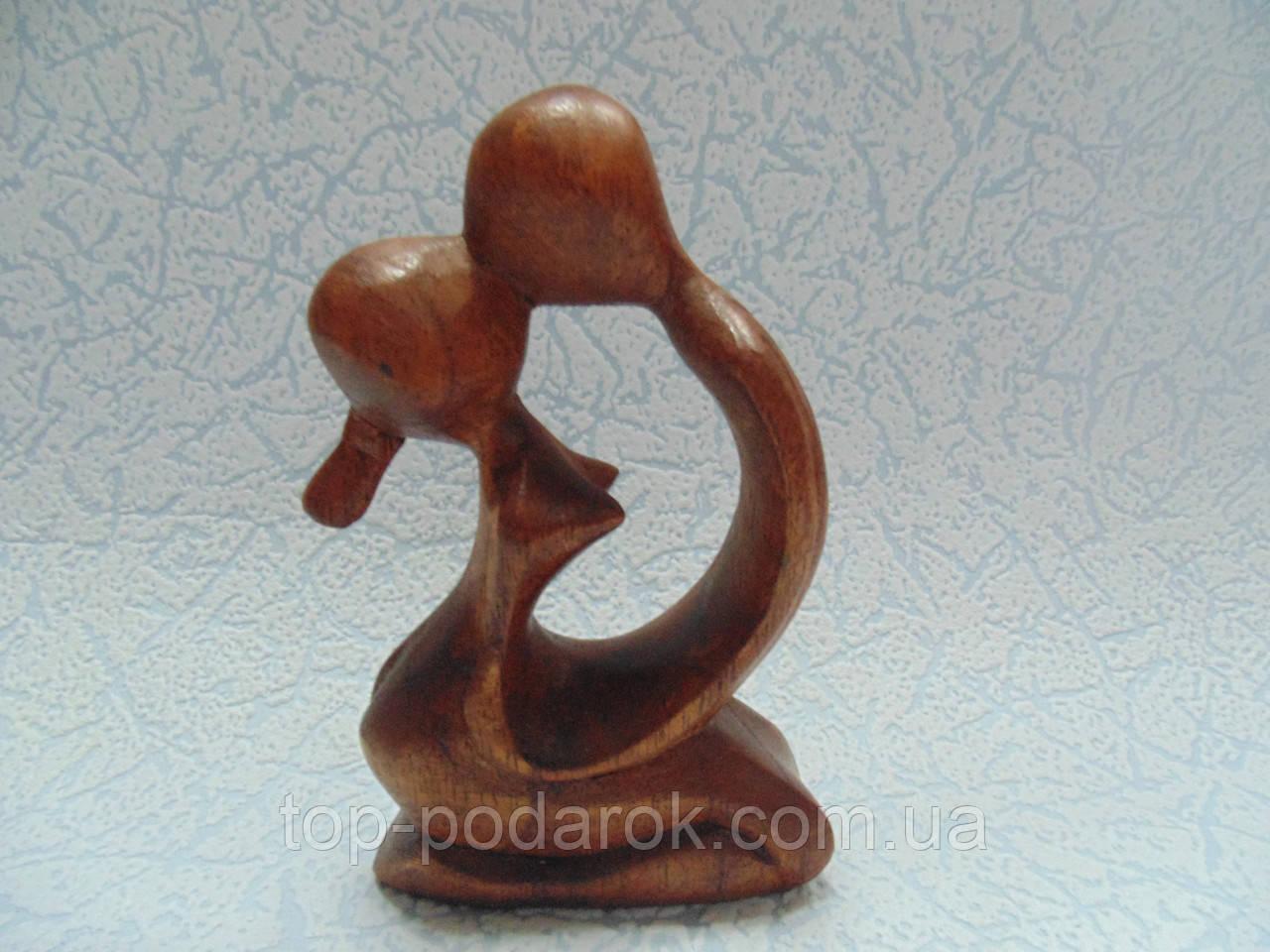 Статуэтка Абстракция влюбленная пара деревянная