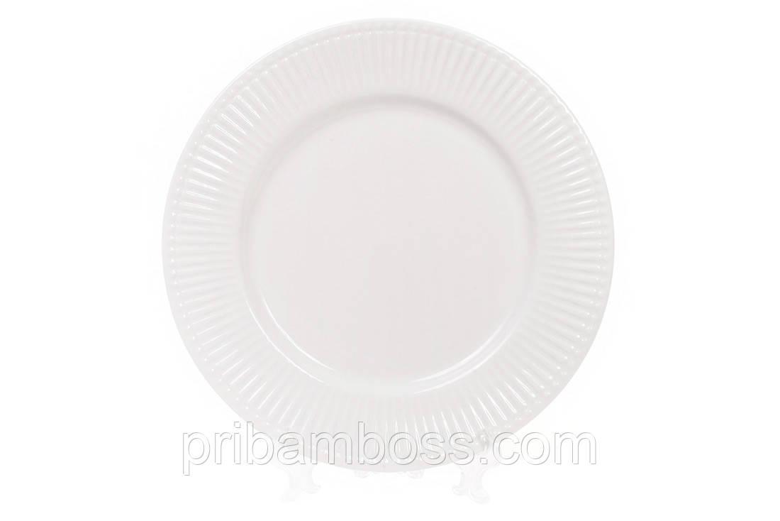 Тарелка фарфоровая обеденная 20.5см, 6 шт