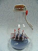 Корабль в бутылке размер 9*7*7 см