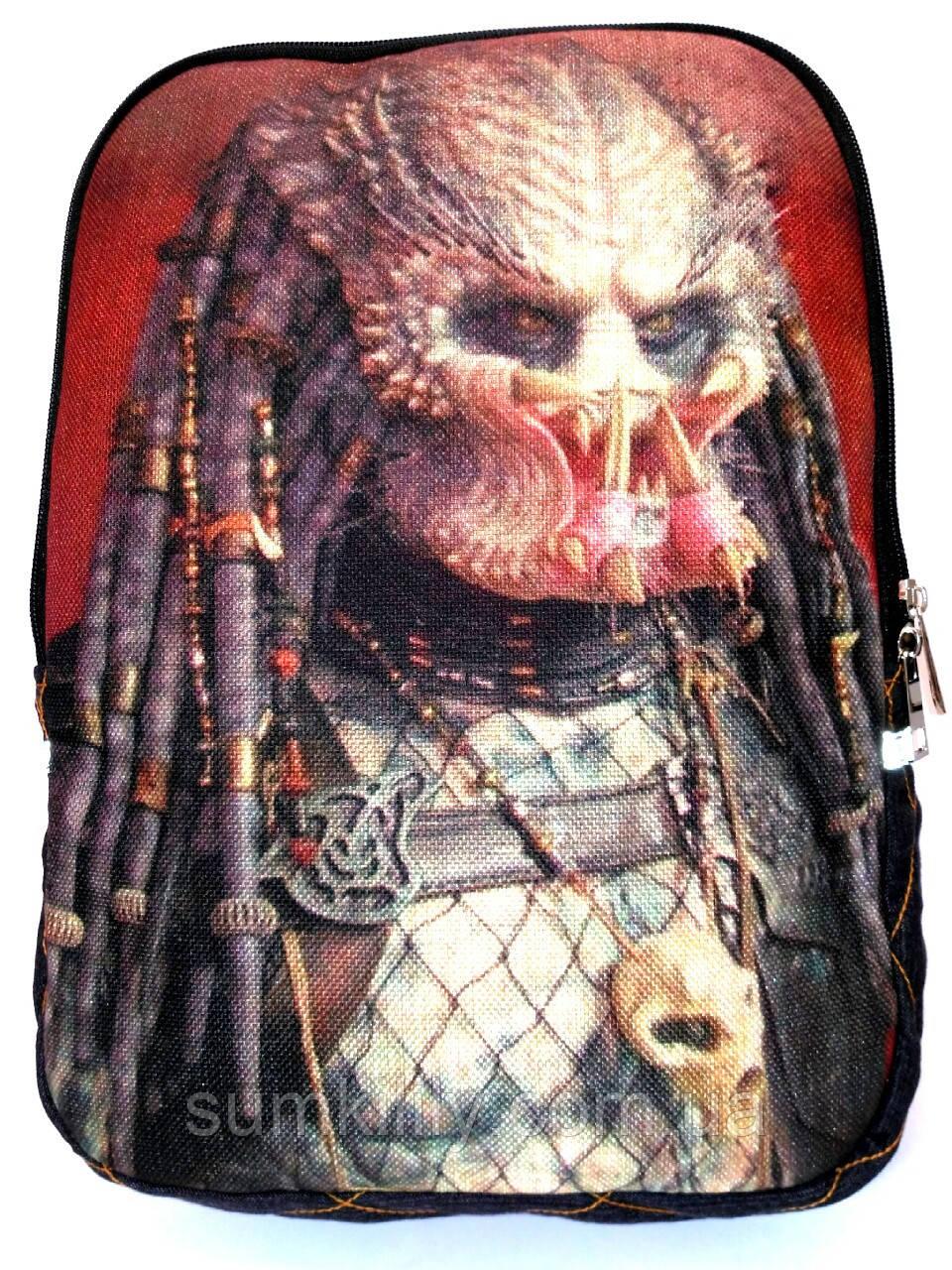 Джинсовый рюкзак Хищник