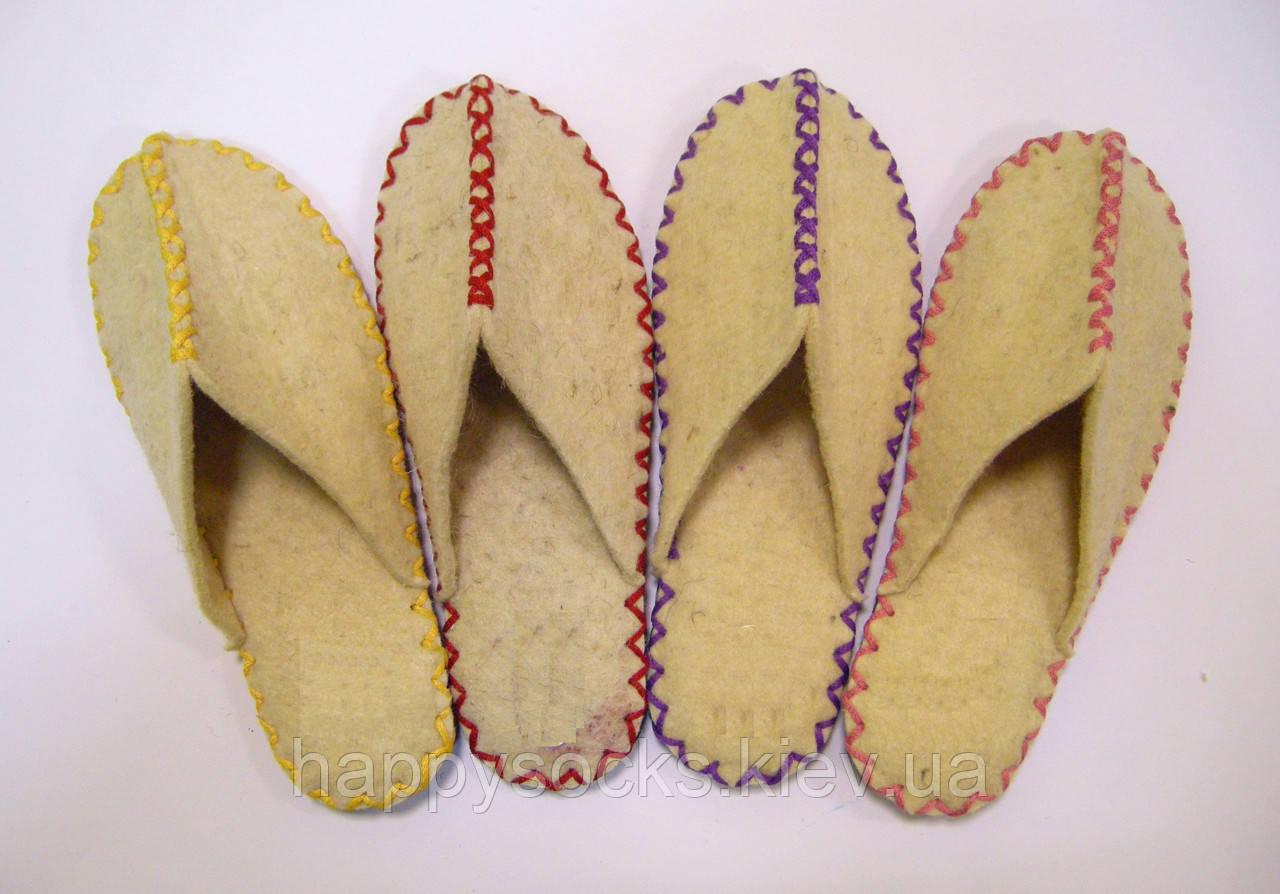 Домашние войлочные тапочки из натуральной шерсти