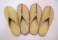 Домашние войлочные тапочки из натуральной шерсти, фото 1