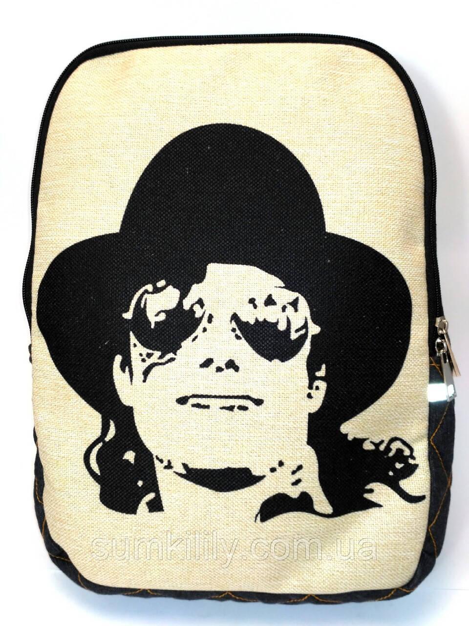 Джинсовый рюкзак Майкл Джексон 3