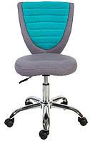 Детское компьютерное кресло POPPY, серо - голубой