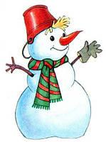 Игрушка Снеговик светящиеся, разные размеры