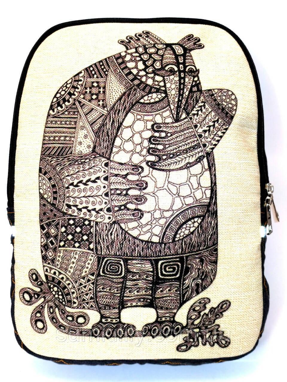 Джинсовый рюкзак Материнская забота, фото 1